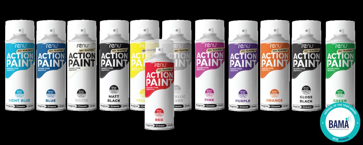 The Award winning action paint range